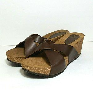Andrew Stevens Art Toscana leather sandals size 39